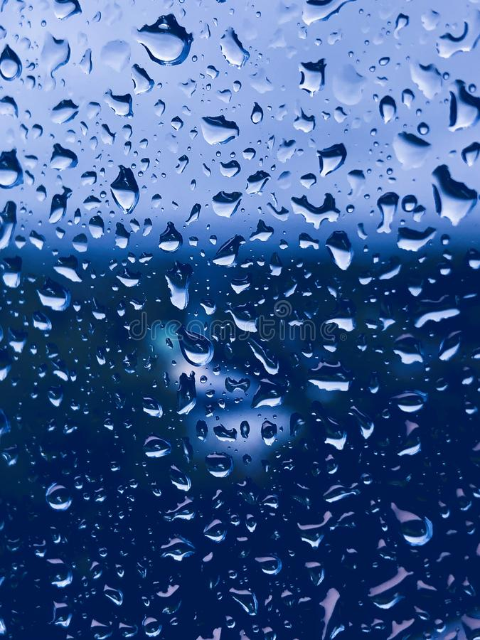 Waterdrops on a window. stock photos