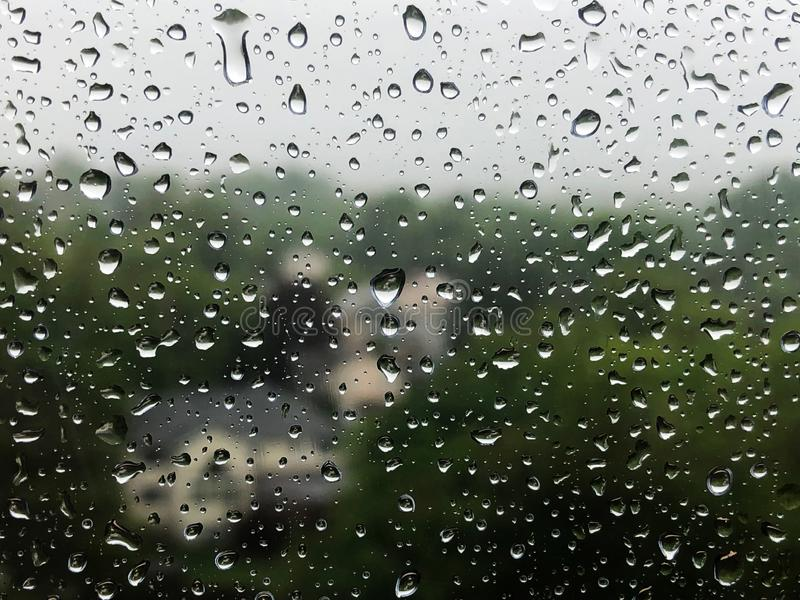 Waterdrops on a window. stock image