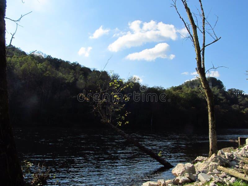Wateren in Norris Dam 2 royalty-vrije stock foto's