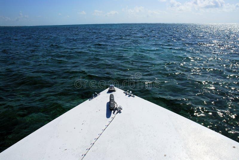 Wateren van Belize Midden-Amerika royalty-vrije stock afbeeldingen