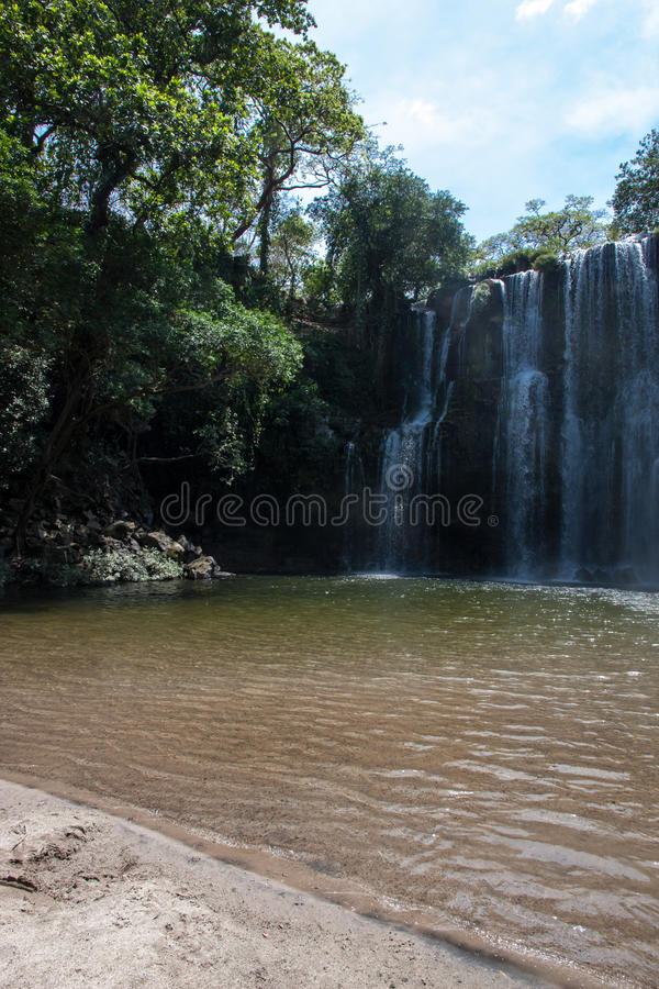 Waterfal Bagaces w Costa Rica fotografia royalty free