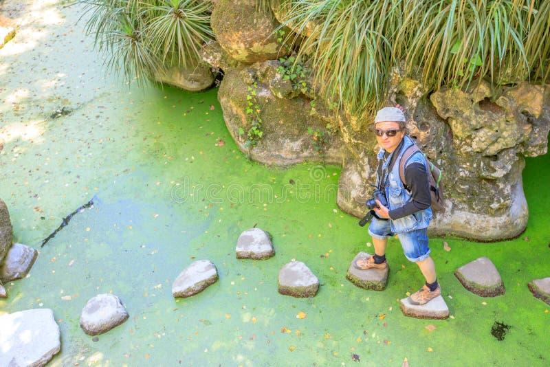 Waterfall湖辛特拉 免版税库存照片