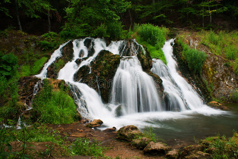 Download Waterfall stock image. Image of park, grass, blue, long - 10011027