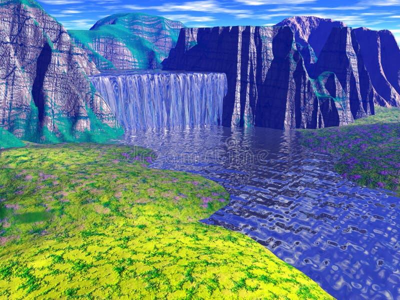 Download Waterfall stock illustration. Illustration of beauty, mountain - 115509