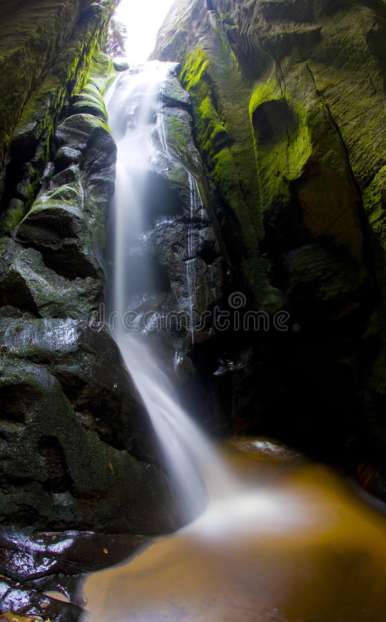 Download Waterfall stock photo. Image of scenic, falls, adrspach - 12213328