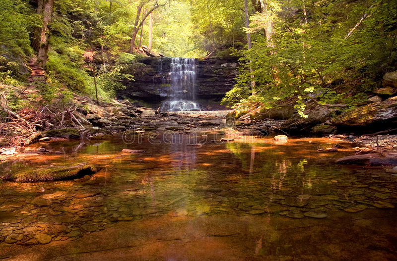 Download Waterfall stock photo. Image of tranquil, rocks, natural - 171748