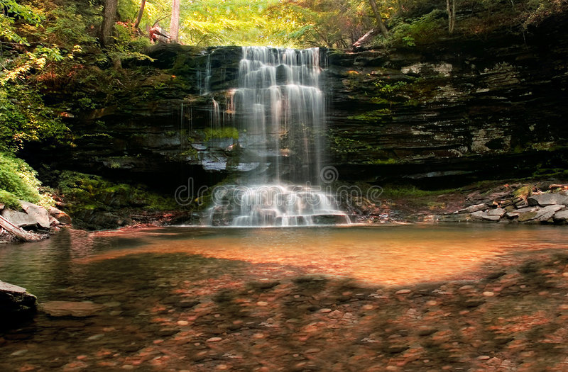 Download Waterfall stock image. Image of hike, beauty, tranquil - 171749