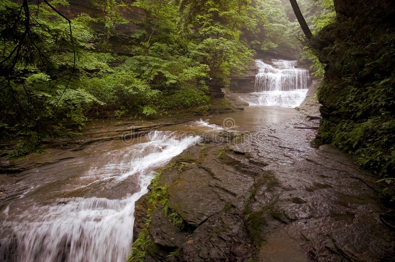 Download Waterfall stock photo. Image of movement, plants, boulders - 172430