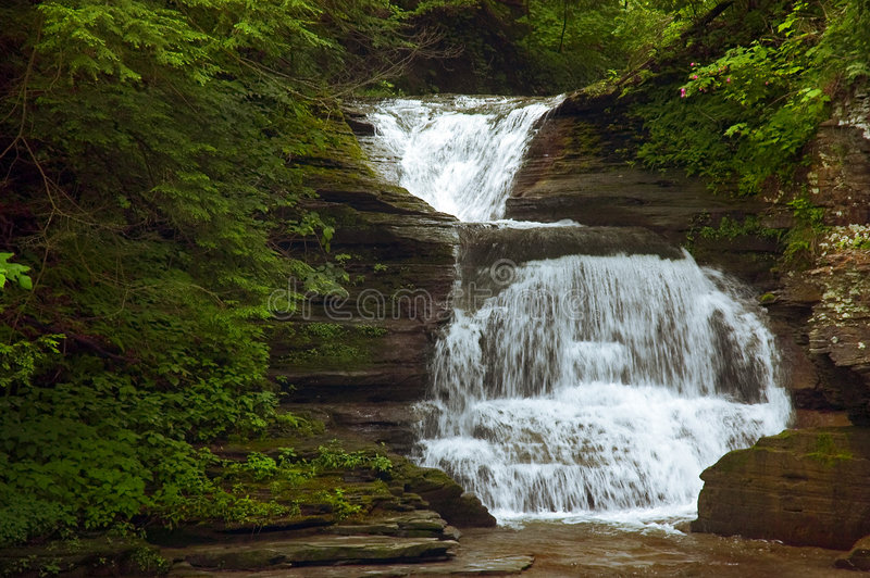 Download Waterfall stock image. Image of boulders, flowing, tumble - 172437