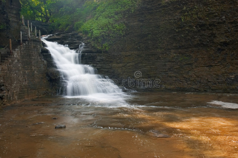 Download Waterfall stock image. Image of flowing, flow, plants, scenery - 172577