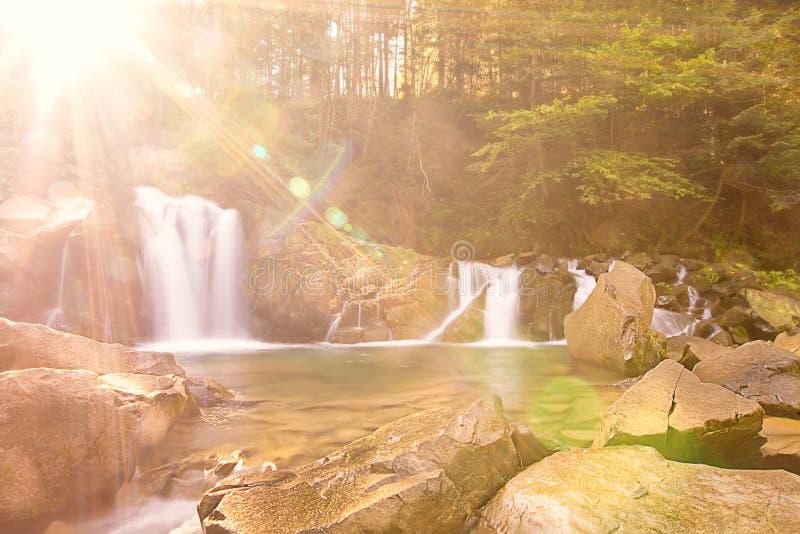 Download Waterfall stock photo. Image of horizontal, green, autumn - 21765016