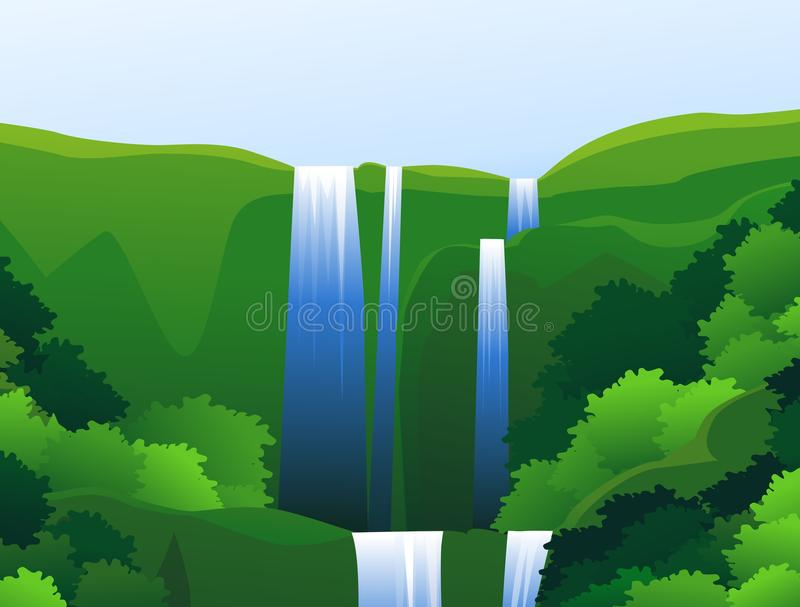 Download Waterfall stock vector. Image of ecology, environment - 23607717