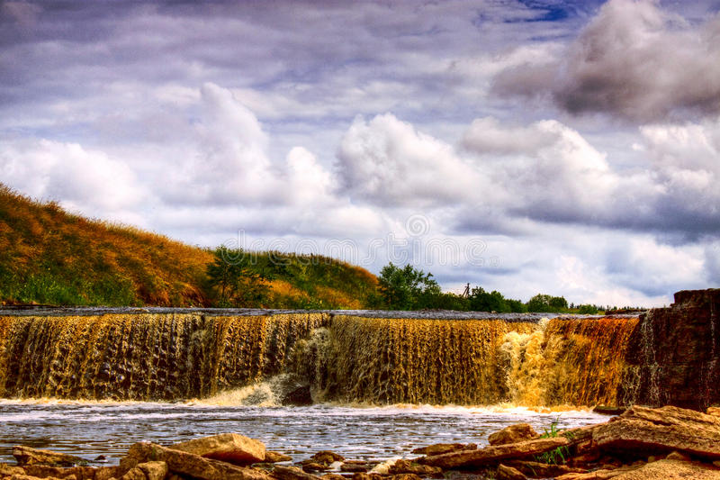 Download Waterfall stock image. Image of lake, clouds, nature - 26437461
