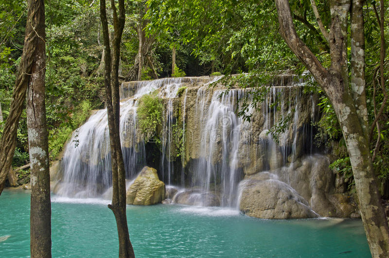 Download Waterfall stock image. Image of leaf, lush, jungle, fall - 26541183