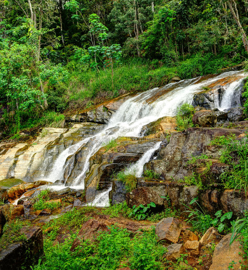 Download The waterfall stock image. Image of rainforest, long - 27945801