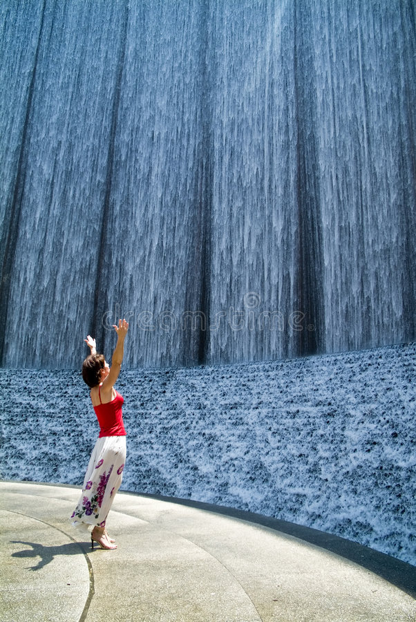 Download The Waterfall stock image. Image of breezy, draft, enthralled - 2833755