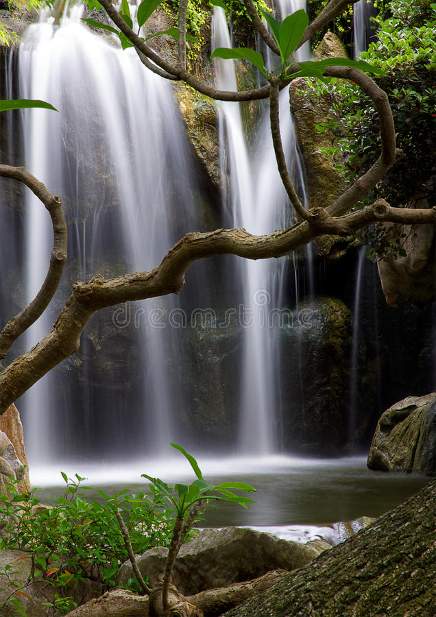 Download Waterfall stock image. Image of falls, smooth, park, outdoor - 28508467