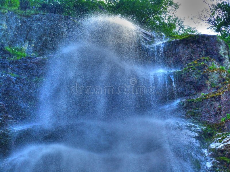 Waterfall. In Montenegro royalty free stock images