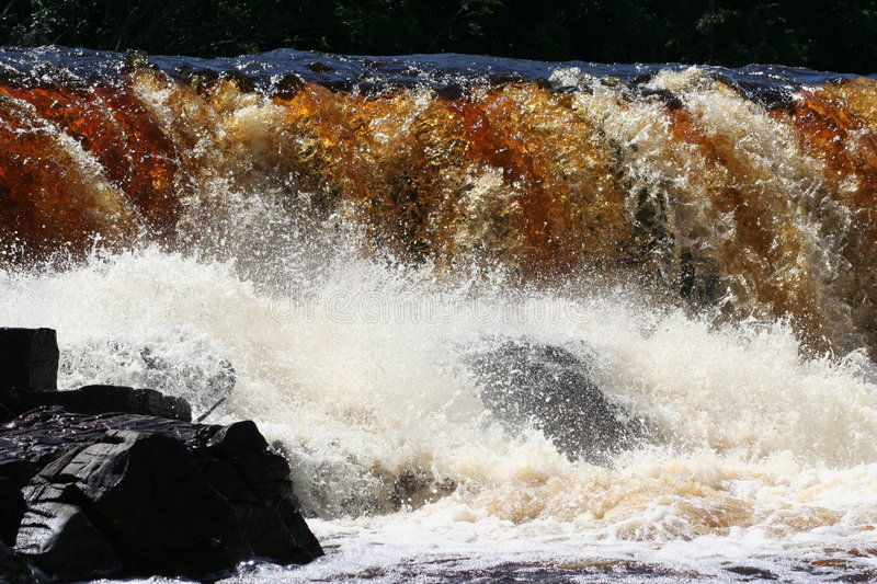 Waterfall in Amazonia royalty free stock photography