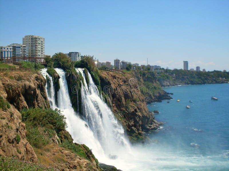 Waterfall in Antalya stock photography