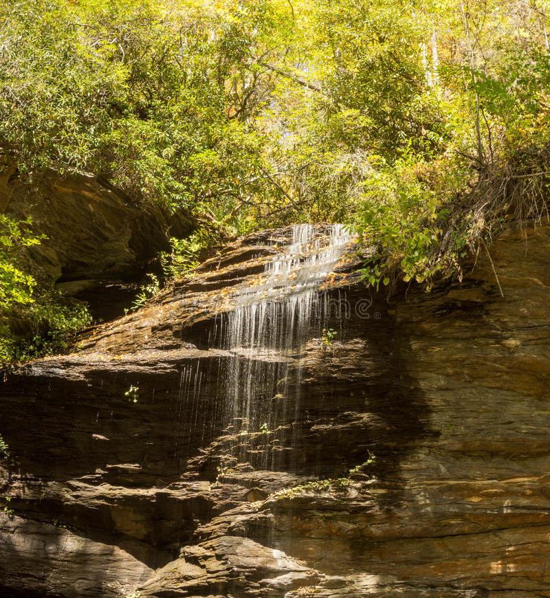 Waterfall in the Appalachians. A view of Slick Rock Falls in the Appalachians of western North Carolina royalty free stock photos