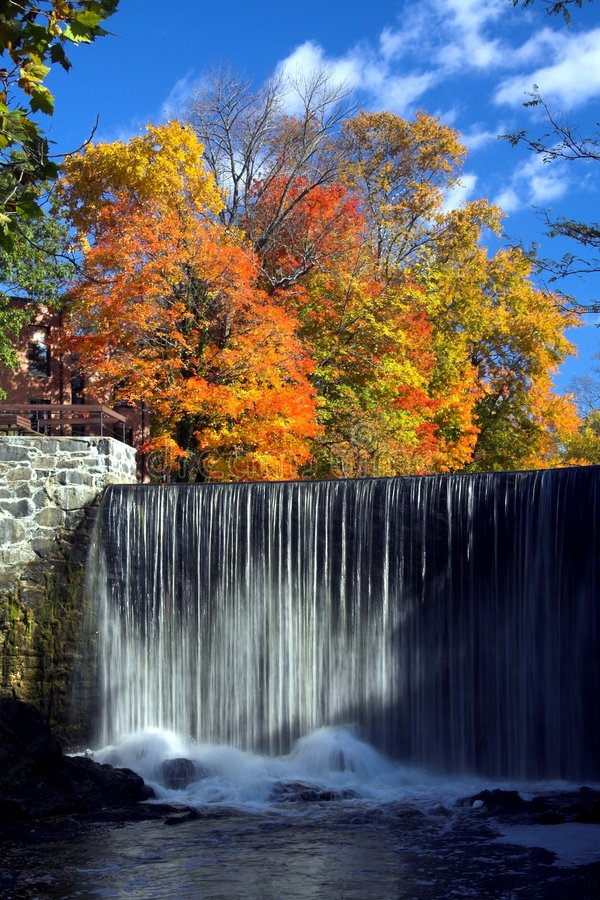 Download Waterfall in Autumn stock photo. Image of waterfall, picturesque - 1415988