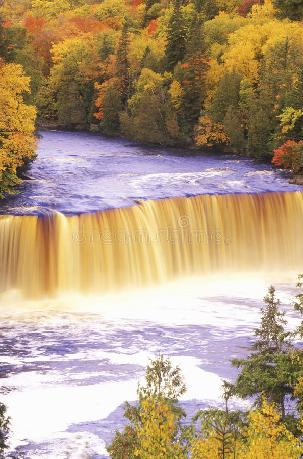 Download Waterfall in Autumn stock image. Image of nature, colors - 26260027