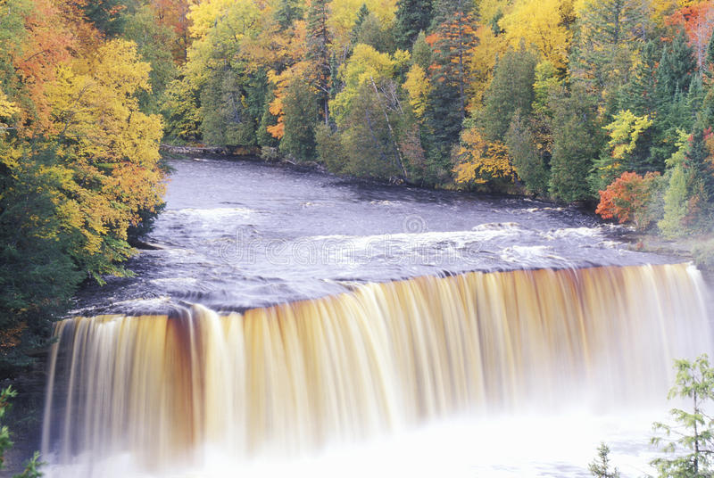 Download Waterfall in Autumn stock image. Image of stream, autumn - 26260045
