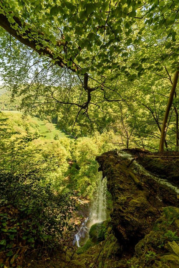 The waterfall of Bad Urach, Swabian Alb, Baden-Wuerttemberg, Germany, Europe royalty free stock photography
