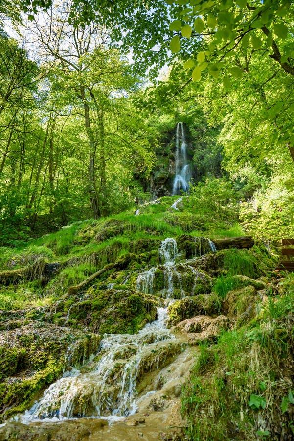 The waterfall of Bad Urach, Swabian Alb, Baden-Wuerttemberg, Germany, Europe royalty free stock images