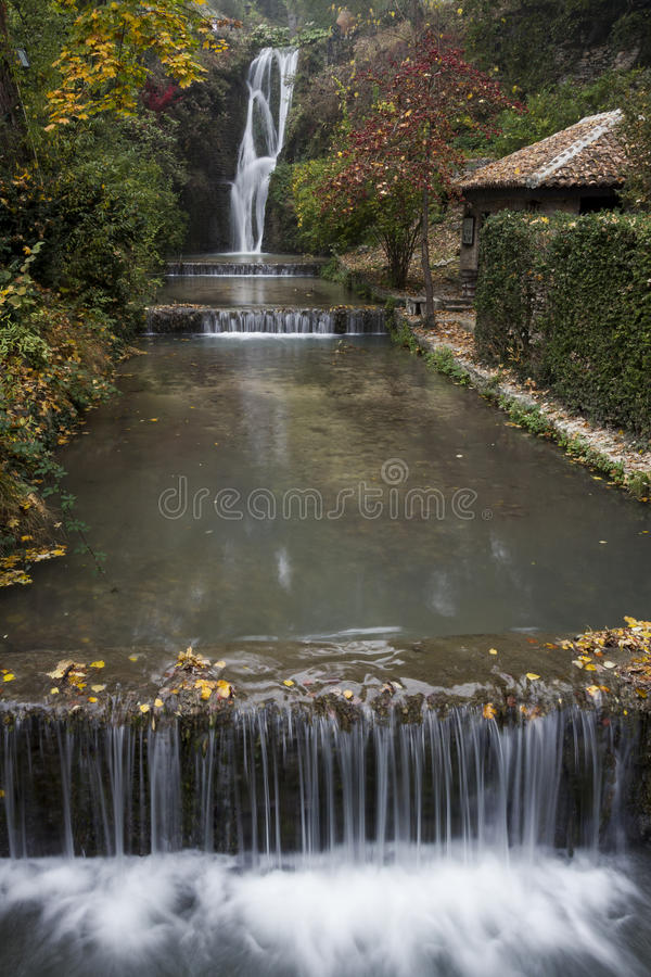 The Waterfall of The Balchik's Castle royalty free stock images