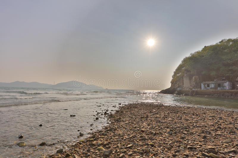 Waterfall Bay Park view of East Lamma Channel. From Waterfall Bay Park view of East Lamma Channel royalty free stock photography