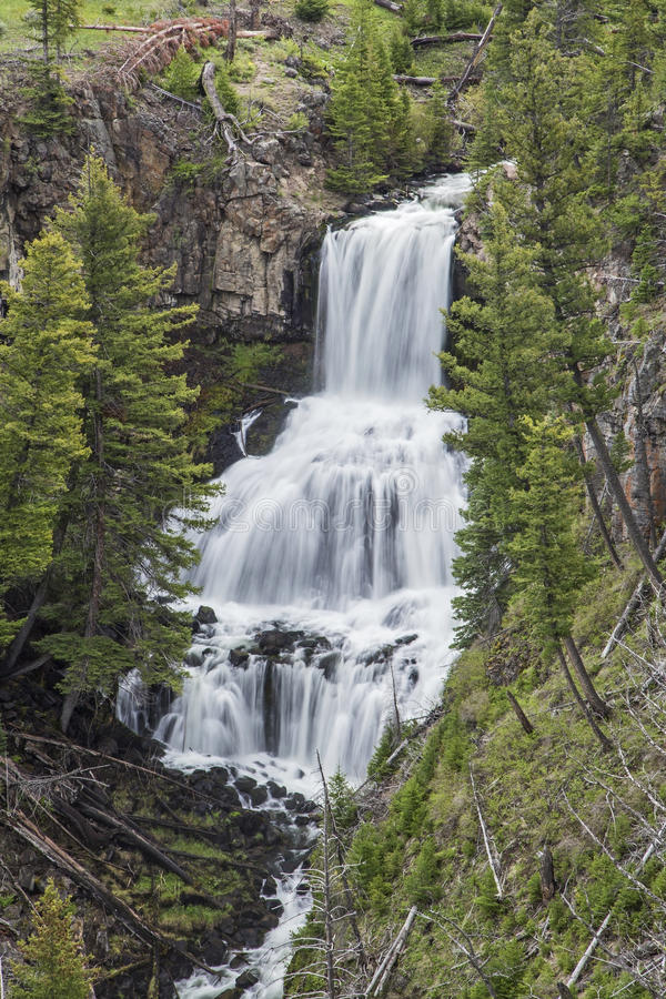 Download Undine Falls In Yellowstone National Park Stock Image - Image: 34555969
