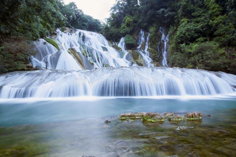 Waterfall. The beautiful view of Guizhou China stock images