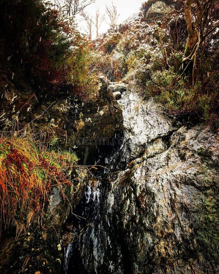Waterfall Ben A-Ann royalty free stock photo
