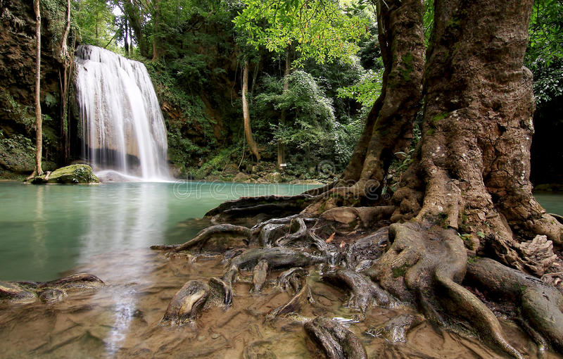 Download Waterfall blue stock photo. Image of calm, jungle, happy - 14301562