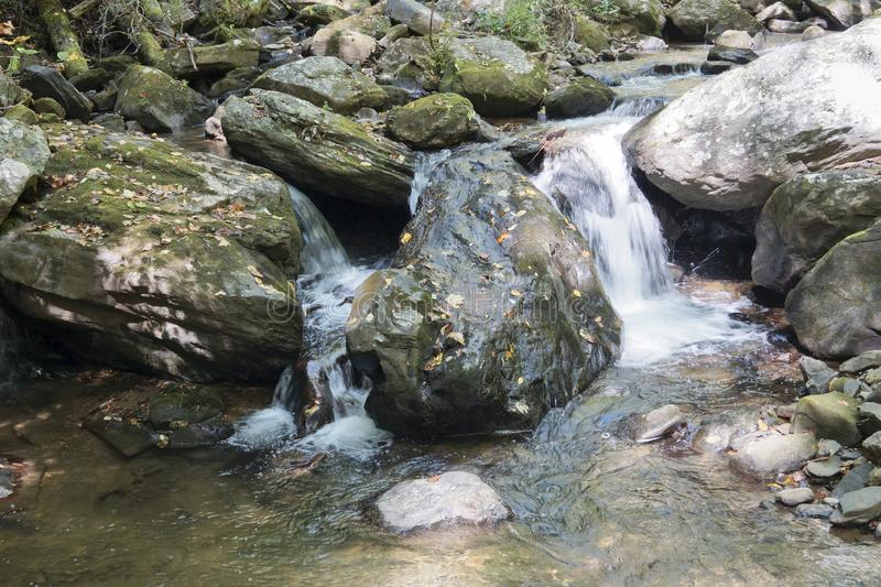 Waterfall in the Blue Ridge Mountains stock photos