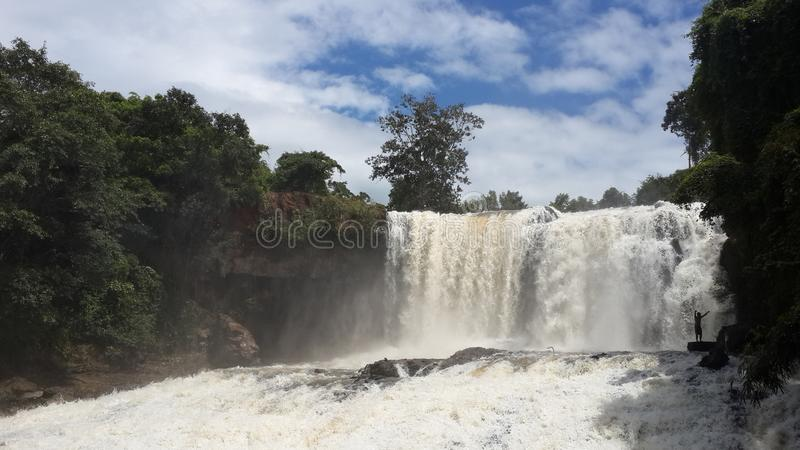 Cambodia. Boo Sra waterfall. Mondulkiri province. royalty free stock photos