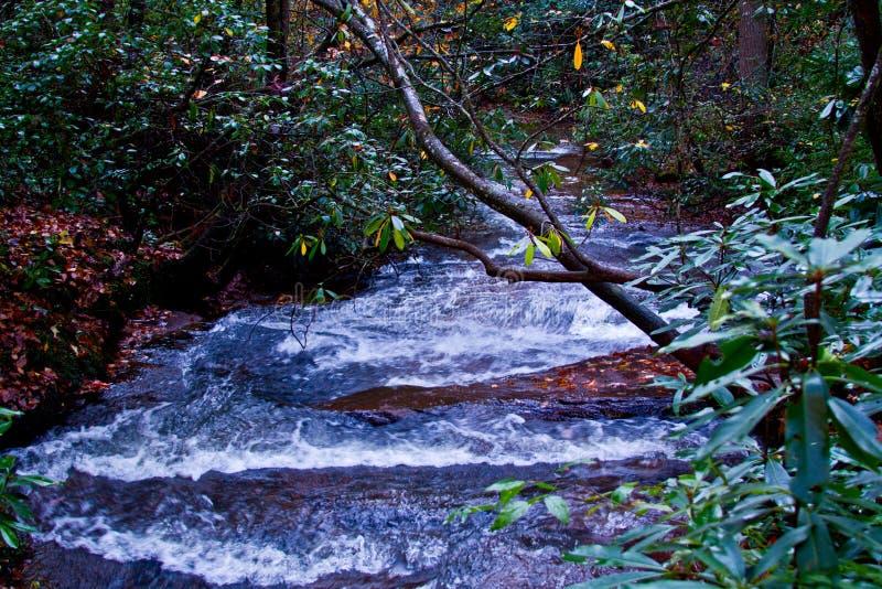 Waterfall in Brevard, NC stock image