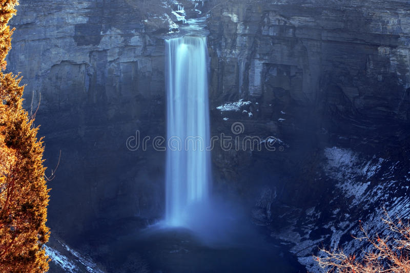 Waterfall at Buffalo city, NY, USA royalty free stock photography