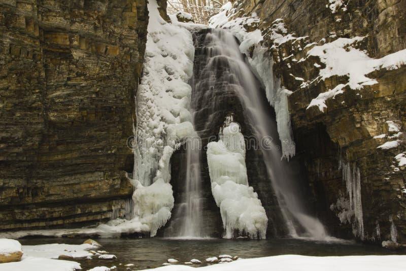Waterfall Buhtiveckiy Stock Images