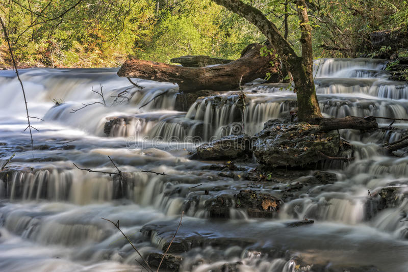 Waterfall At Burgess Falls State Park royalty free stock photos