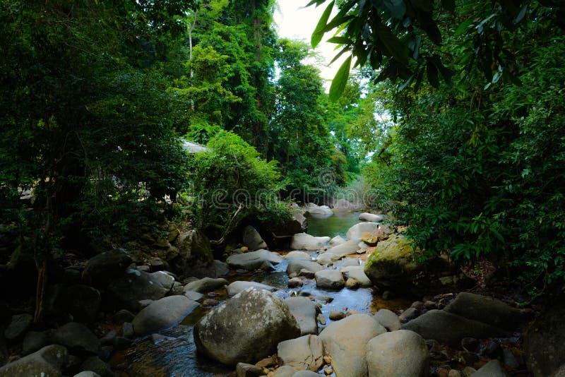 Waterfall canal stock photo