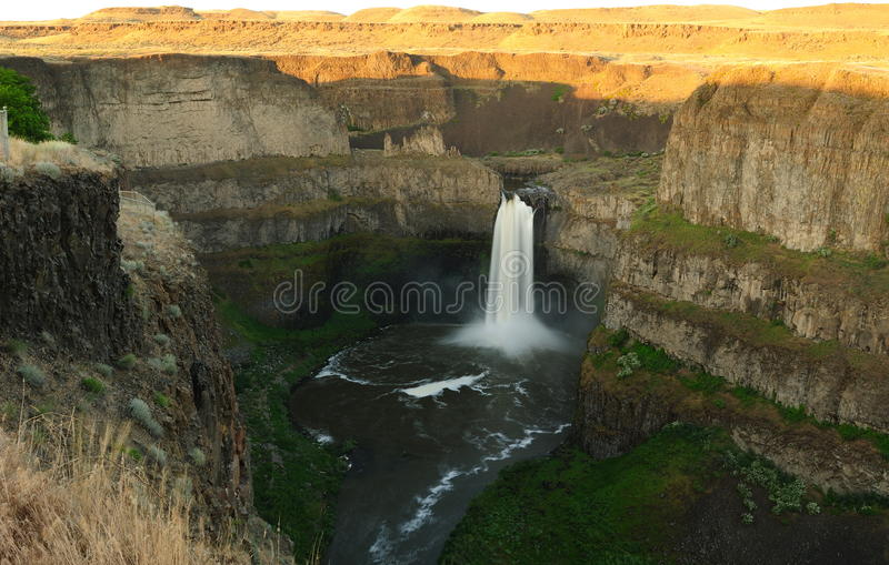 Waterfall and canyon royalty free stock image