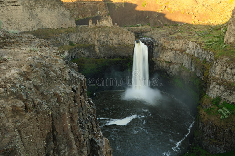 Waterfall and canyon stock images