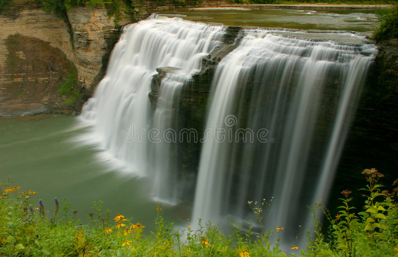 Waterfall Cascading stock images