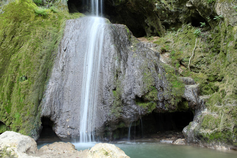 Download Waterfall and cave stock photo. Image of travel, green - 26267940