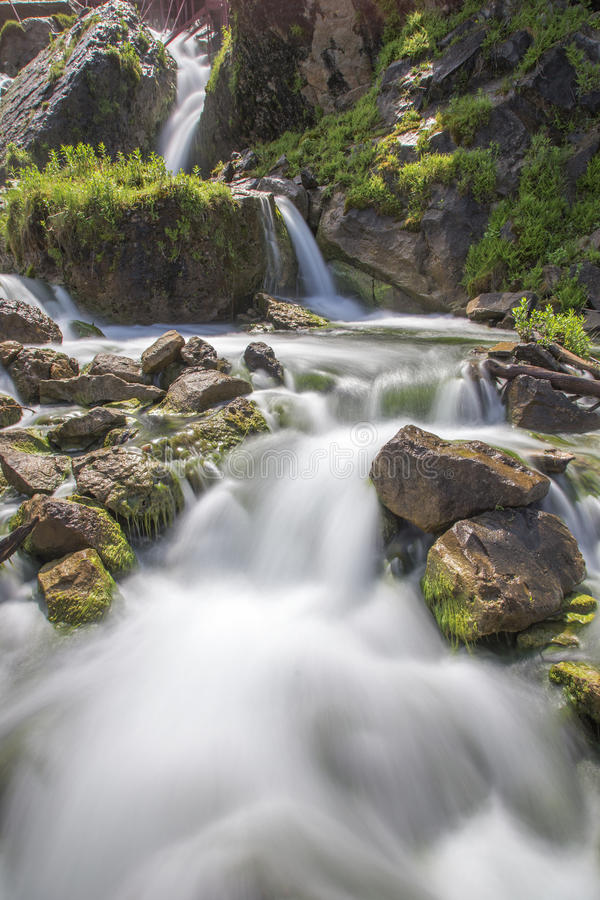 Waterfall at Cave of Winds stock images