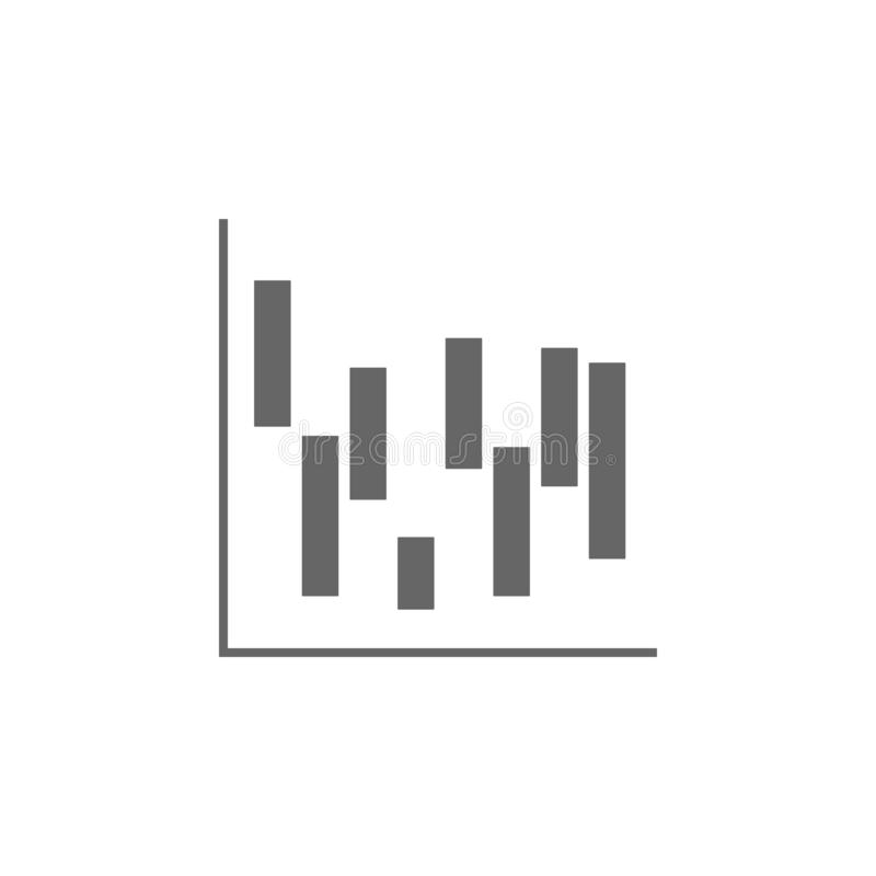 waterfall chart icon. Simple glyph  of charts and diagrams set for UI and UX, website or mobile application on white vector illustration