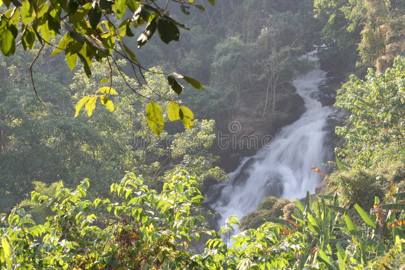 Waterfall In Chiang Mai, Thailand Royalty Free Stock Photo